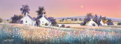 Evening Fields by John Mckinstry - Original Painting on Box Canvas sized 32x12 inches. Available from Whitewall Galleries