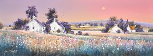 Evening Fields by John Mckinstry - Original Painting on Box Canvas